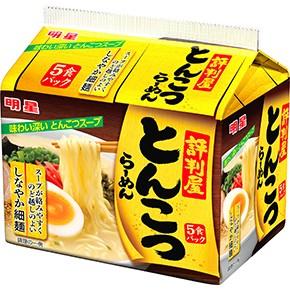 【橘町五丁目】日本明星 評判屋5入包麵-豚骨拉麵