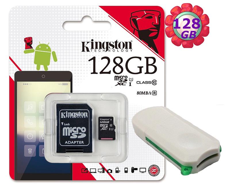 附V39 microSD 讀卡機 KINGSTON 128GB 128G 金士頓【80MB/s】microSDXC microSD SDXC  micro SD UHS-I UHS U1 TF C10 Class10 手機記憶卡 記憶卡