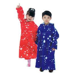 弘瀚--Pierre Cardin皮爾卡登星情童話前開式兒童雨衣(連身式)