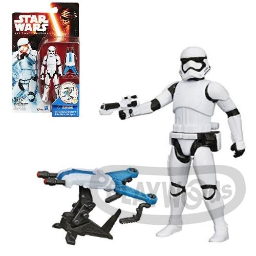 【Playwoods】[星際大戰StarWars]原力覺醒:帝國風暴兵Stormtrooper-3.75吋人物組(星球大戰/孩之寶Hasbro/科幻/宇宙戰爭/公仔/喬治盧卡斯/絕地武士/原力/天行者路克)
