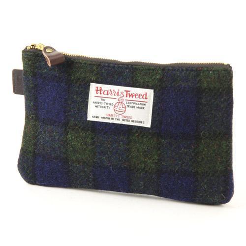日本代購預購 英國品牌 日本製 Harris Tweed 毛呢 格紋 零錢包 565-060 74