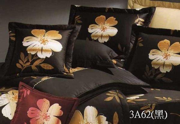 ◎MIT寢具◎台灣製‧大和日系花-黑色 ‧100%純棉精梳棉 單人床包/雙人床包/夏罩/床罩/厚包( 任何尺寸皆可訂做)台中