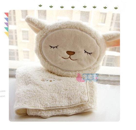 **露娜寢具**超萌羊咩咩 抱枕被 羊駝 日本綿羊/小羊毛毯/抱枕批毯兩用被/空調被.冷氣毯/小蓋毯/珊瑚絨毯/靠墊