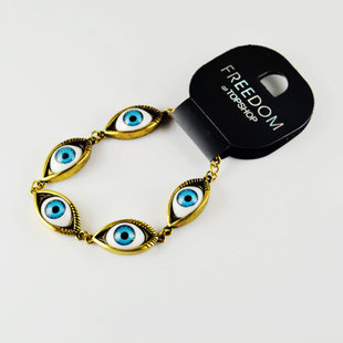 **露娜精選外貿飾品**限量特價FREEDOM 歐美尾單 個性 眼睛 手鍊 手環