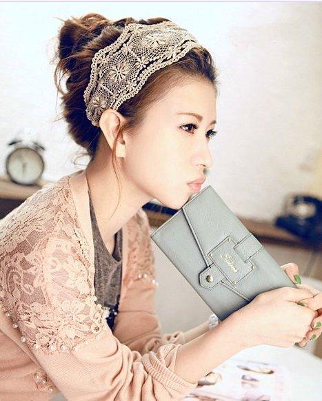 ﹨﹨Moshi moshi 韓版甜美寬版蕾絲髮帶髮箍髮圈►