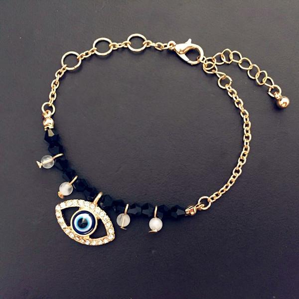 青島歐美飾品廠家批發 evil eye bracelet 土耳其藍眼睛手鏈B51
