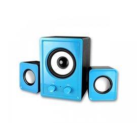 【壹品家現代生活館】耐嘉 KINYO USB 2.1立體擴大音箱 US-179 藍/紅兩色可選 低音振膜