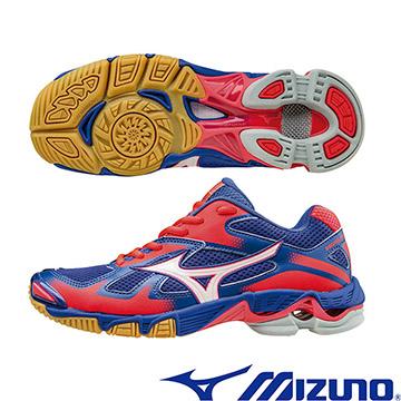 V1GC166005(丈青X銀白X紅)WAVE BOLT 5 高避震女排球鞋 A【美津濃MIZUNO】