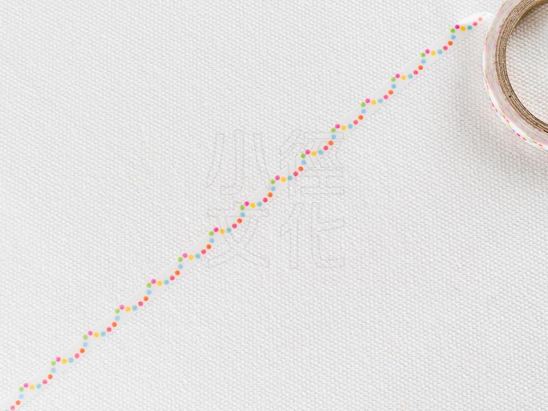 *小徑文化*日本進口和紙膠帶 Word carft系列 - 彩色水玉 ( W02-MK-T0079 )