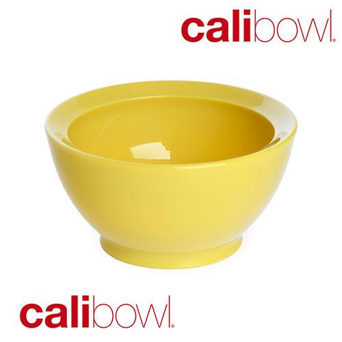 【淘氣寶寶】【美國 CaliBowl】專利防漏防滑幼兒學習碗(單入無蓋) 8oz -黃色【保證原廠公司貨】