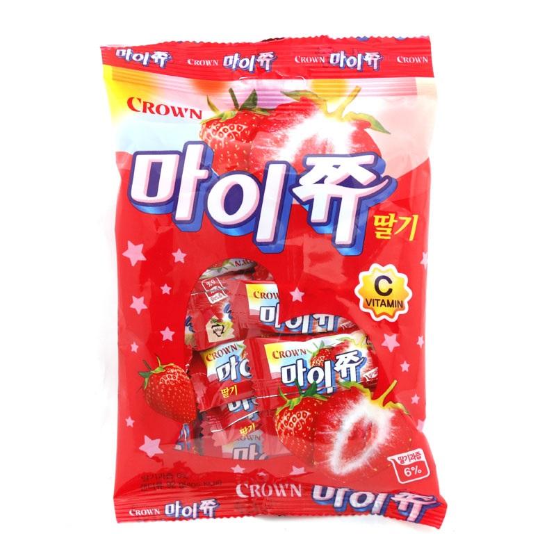 韓國零食 Crown 草莓軟糖 韓星IU最愛