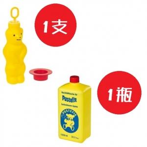 德國【Pustefix】大泡泡熊+補充液1公升