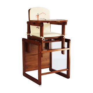 【美國 L.A. Baby】實木兩用兒童餐桌椅(附餐椅座墊)