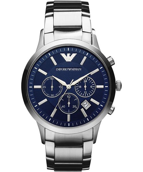EMPORIO ARMANI/AR2448亞曼尼經典計時腕錶/藍面43mm