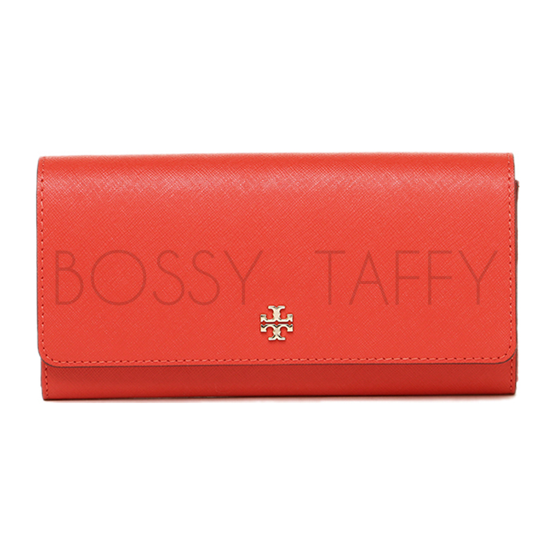 TORY BURCH 11169072 605 ROBINSON ENVELOPE CONTINENTAL 經典長夾 POPPY RED橘紅