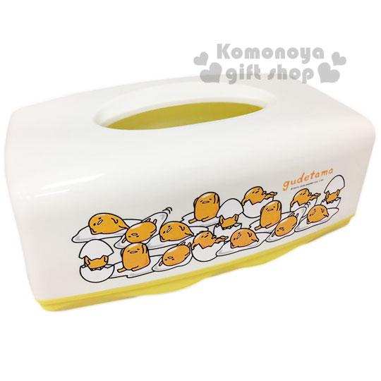 〔小禮堂〕蛋黃哥 塑膠面紙盒《白黃.多動作》居家室內.汽車內兼用
