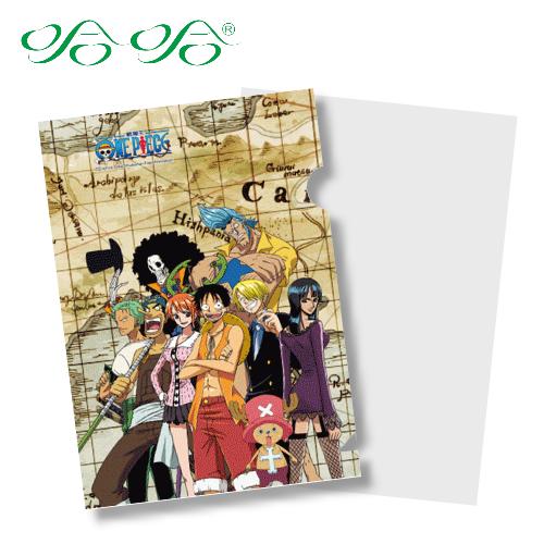 哈哈書套 LF-007 日本動漫 航海王 正版授權 海賊王 L型文件夾 (L夾- 尋寶版 )