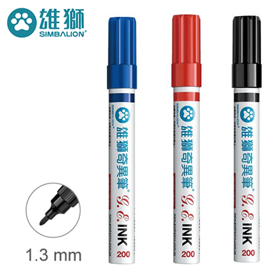 雄獅 NO.200 油性速乾奇異筆 ( 1.3mm )