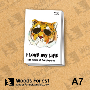 Woods Forest 木雕森林 - A7小筆記本 (手記本)【墨鏡虎】