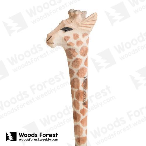木雕森林 Woods Forest - 手工動物木雕筆【長頸鹿】( 筆質量輕;握筆輕鬆舒適;滑順好寫,用完可替換,實用且經濟!)