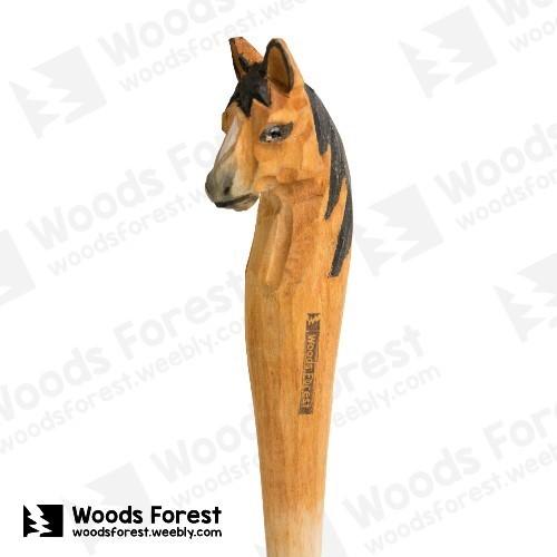 木雕森林 Woods Forest - 手工動物木雕筆【馬】( 筆質量輕;握筆輕鬆舒適;滑順好寫,用完可替換,實用且經濟!)