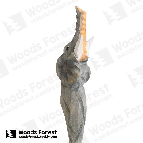 木雕森林 Woods Forest - 手工動物木雕筆【抬頭象】( 筆質量輕;握筆輕鬆舒適;滑順好寫,用完可替換,實用且經濟!)