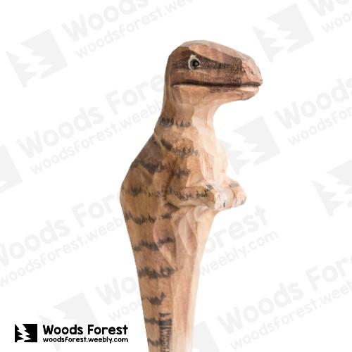 木雕森林 Woods Forest - 手工動物木雕筆【暴龍】( 筆質量輕;握筆輕鬆舒適;滑順好寫,用完可替換,實用且經濟!)