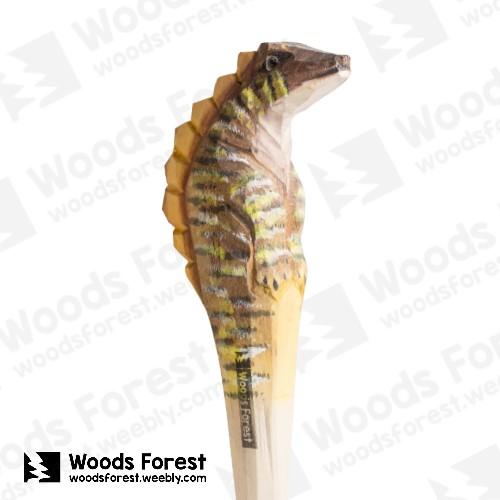 木雕森林 Woods Forest - 手工動物木雕筆【劍龍】( 筆質量輕;握筆輕鬆舒適;滑順好寫,用完可替換,實用且經濟!)