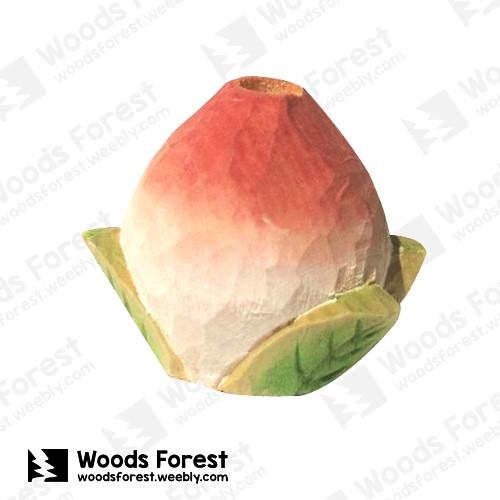 [絕版品] 木雕森林 Woods Forest - 木雕筆專用單孔筆座【桃子】( 造型可愛;小巧不佔空間!)