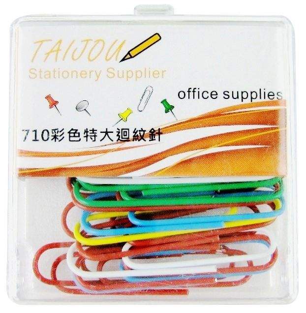 彩色特大迴紋針 ( 50mm x 30入 )