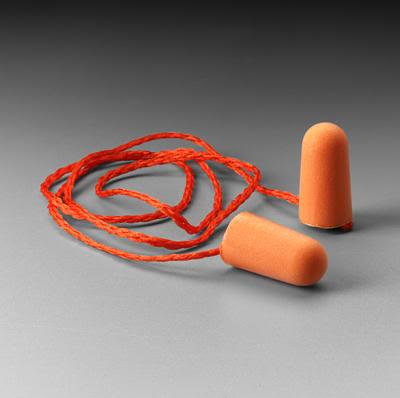 3M 1110 圓錐型軟式海棉耳塞 ( 帶線 ) 抗髒污處理,乾淨衛生