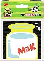 3M 便利貼 625S-4N  [ 牛奶 ] 造型便條紙 ( 73 x 73 mm )