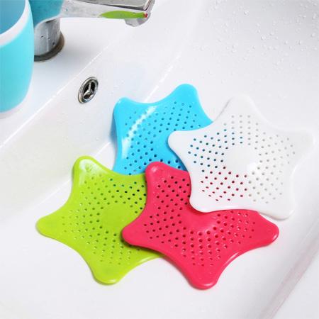 居家創意 海星防堵塞排水口過濾網 單入 毛髮 水槽 排水管 廚房 浴室 水管清潔【N201904】