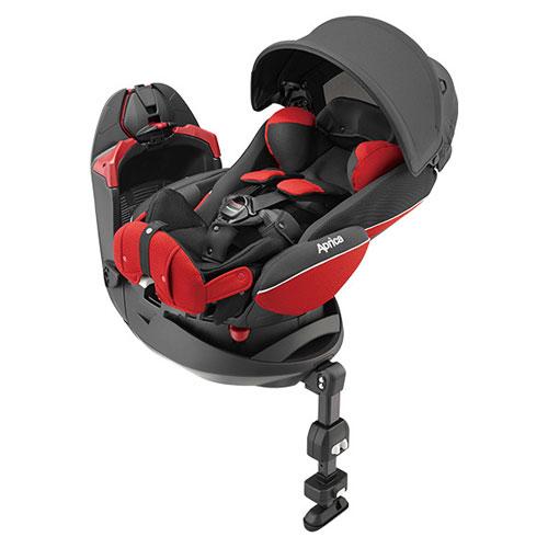 【悅兒園婦幼生活館】Aprica 愛普力卡 平躺型嬰幼兒汽車安全臥床椅 Fladea grow DX-凡爾賽紅