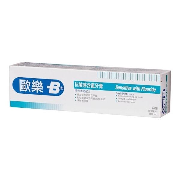 【Oral-B】抗敏感牙膏(含氟配方)100ml