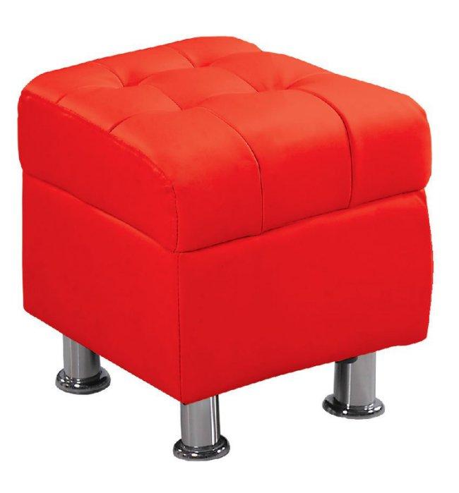 【尚品家具】 JF-181-9 庫倫40紅皮沙發椅凳