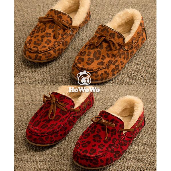 寶寶鞋 時尚豹紋絨內裡學步鞋 公主鞋(16.5-18.5cm)  KL916