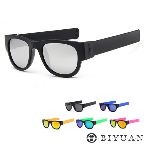 太陽眼鏡【JN4225】OBI YUAN戶外郊遊運動必備繽紛摺疊收納式墨鏡 共6色