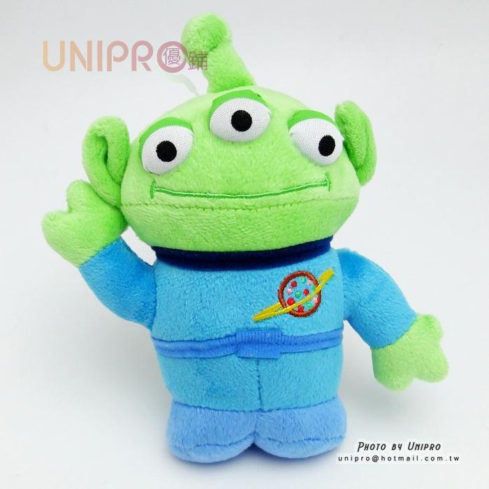 【UNIPRO】日貨 迪士尼正版 三眼怪 Alien 站姿 say 哈囉 17cm 絨毛玩偶 娃娃 玩具總動員 禮物