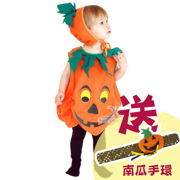 X射線【W911612】俏皮南瓜裝,萬聖節服裝/化妝舞會/派對道具/兒童變裝/角色扮演