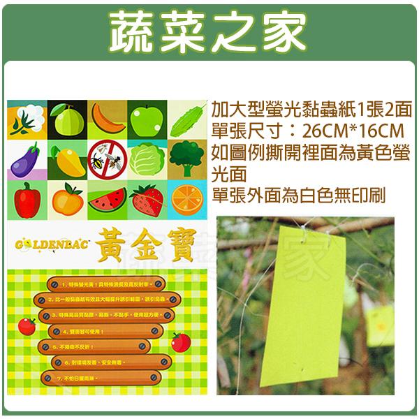 【蔬菜之家003-A72】加大型螢光黏蟲紙(黃色)1張兩面