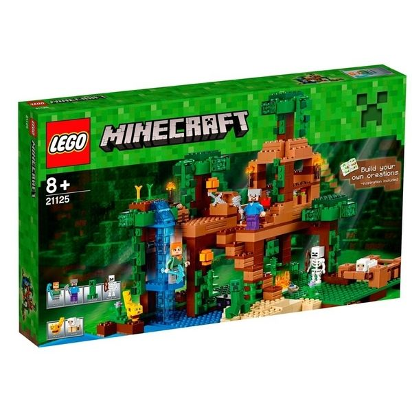 【LEGO 樂高積木】Minecraft 創世神系列 - The Jungle Tree House LT-21125