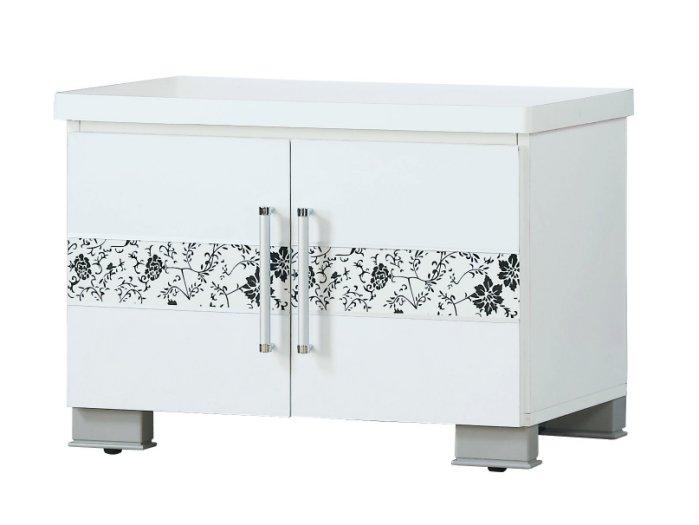 【尚品家具】JF-280-3 威爾納2尺白色座鞋櫃