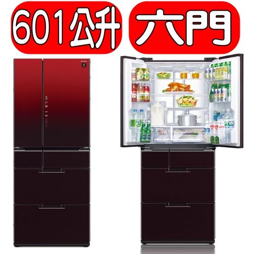 《特促可議價》Sharp 夏普【SJ-GF60BT-R】《601公升》日本原裝六門冰箱