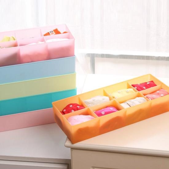 ♚MY COLOR♚多功能雜物整理盒 襪子 內褲 櫥櫃 分類 分格 臥室 收納 領帶 洗漱 桌面【G43】