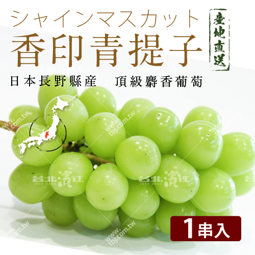 免運【台北濱江】日本進口頂級麝香葡萄★香印青提子★1串