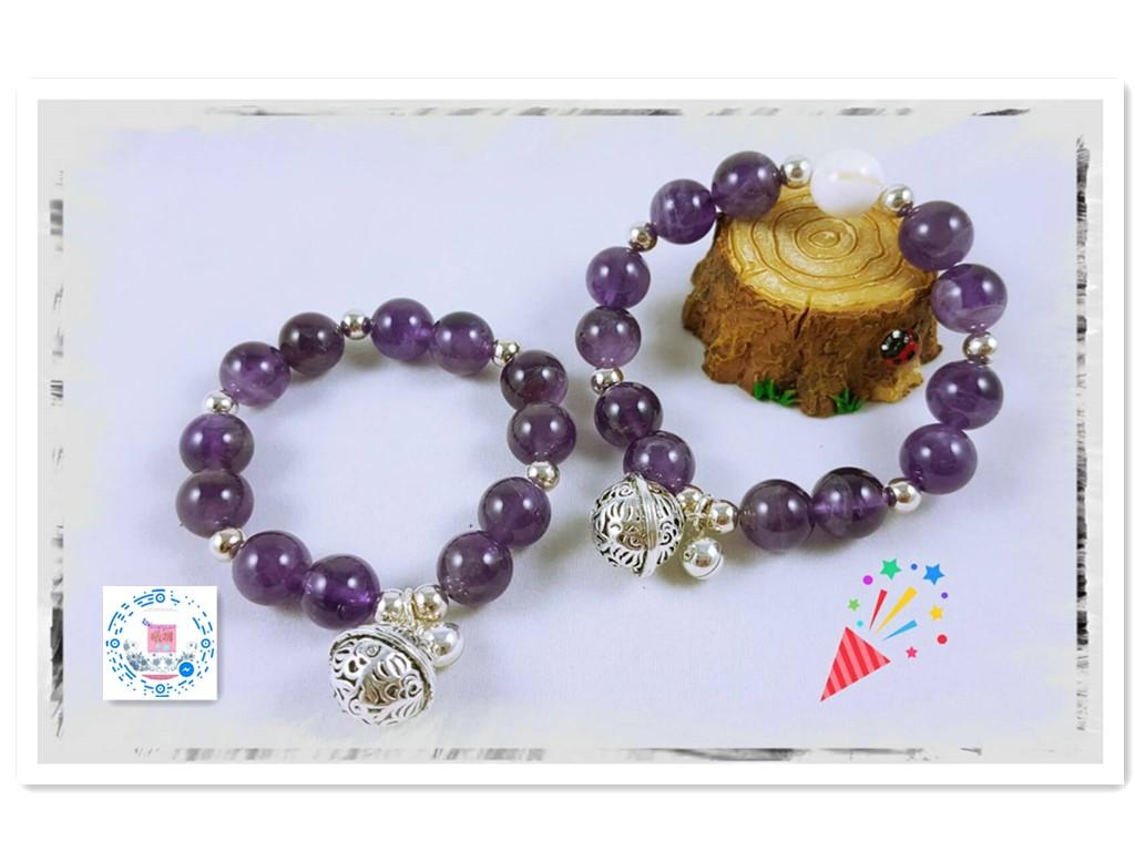 925純銀花千骨宮鈴~天然紫水晶