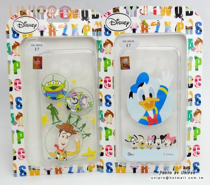 【UNIPRO】三星 Galaxy E7 玩具總動員 唐老鴨 透明 軟殼 TPU 手機殼 保護套 迪士尼正版