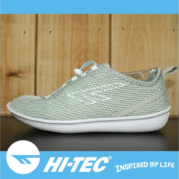 萬特戶外運動 HI-TEC ZUUK 女絲瓜鞋 極輕樂步 旅行必備便鞋 免綁鞋帶 女款 粉白綠
