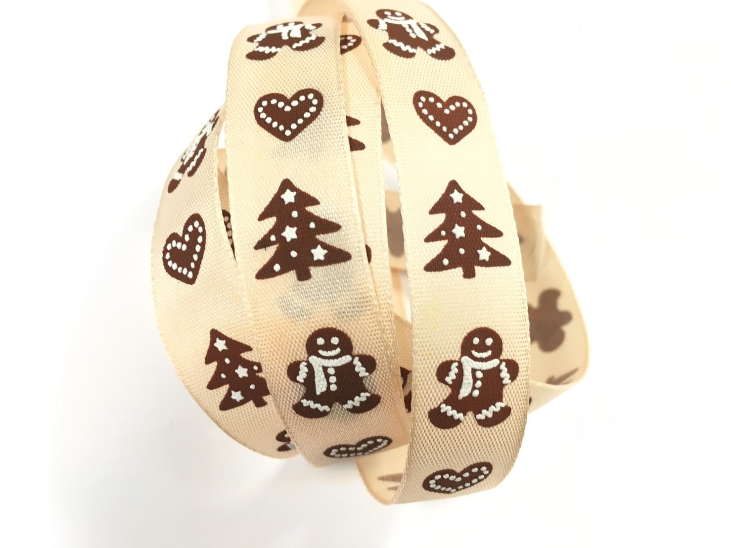 聖誕緞帶薑餅人 3碼裝 (2款)